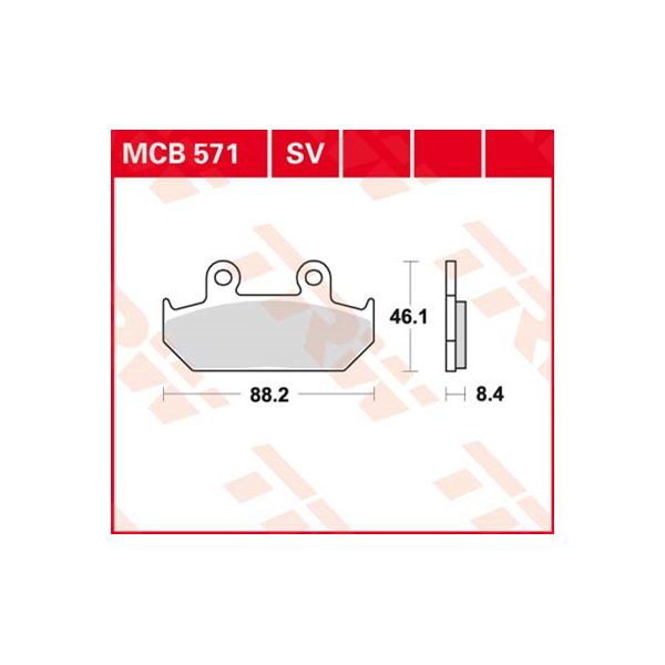 TRW SV/SH Remblokken MCB571SV