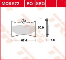 TRW Plaquettes de frein organique MCB572