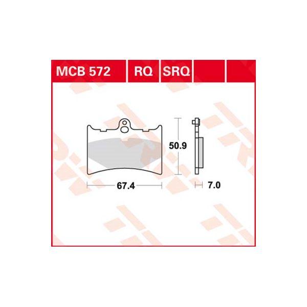 TRW Standaard remblokken MCB572