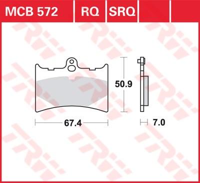 TRW racing quality remblokken MCB572RQ