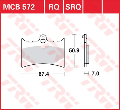 TRW SRQ remblokken MCB572SRQ