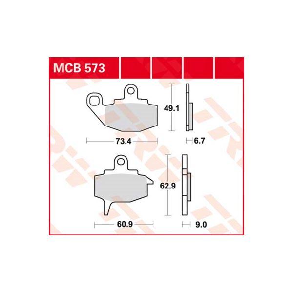 TRW Standaard remblokken MCB573