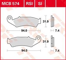 TRW Plaquettes de frein organique MCB574