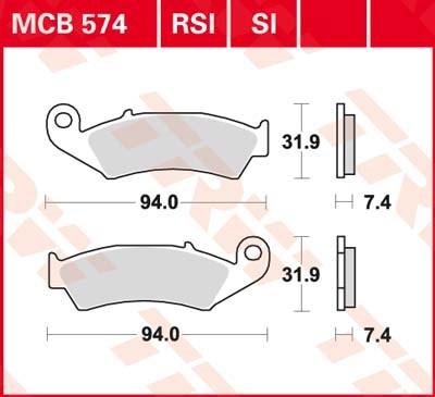 TRW Standaard remblokken MCB574