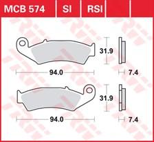 TRW Plaquettes de frein RSI MCB574RSI