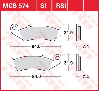 TRW RSI remblokken MCB574RSI