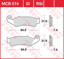TRW Plaquettes de frein métal fritté SI MCB574SI