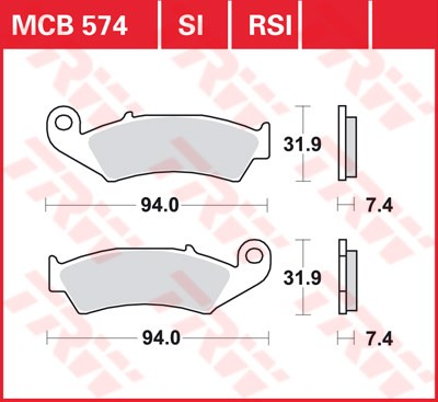 TRW SI Remblokken sinter metaal MCB574SI