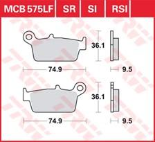 TRW Plaquettes de frein métal fritté SI MCB575SI