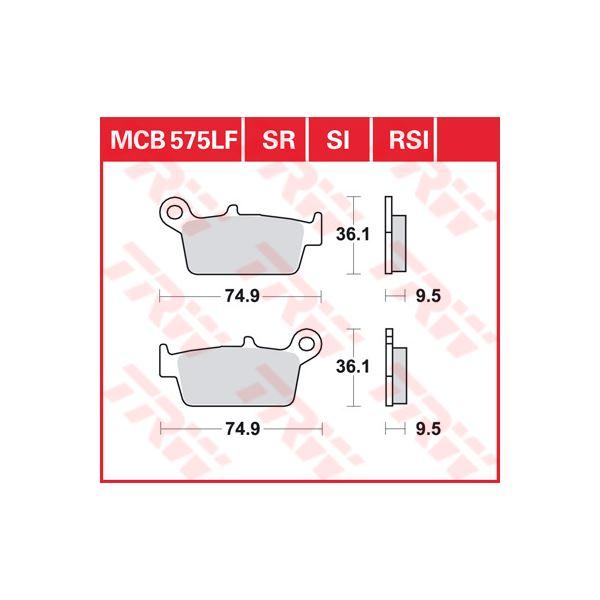 TRW SI Remblokken sinter metaal MCB575SI