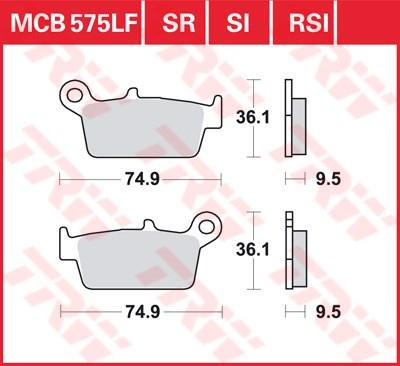 TRW Sinter metaal remblokken MCB575SR