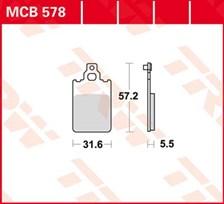 TRW Plaquettes de frein organique MCB578
