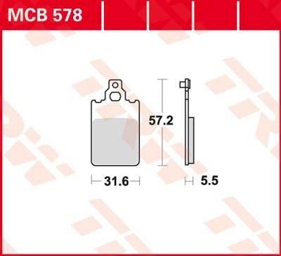 TRW Standaard remblokken MCB578