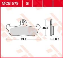 TRW Plaquettes de frein organique MCB579
