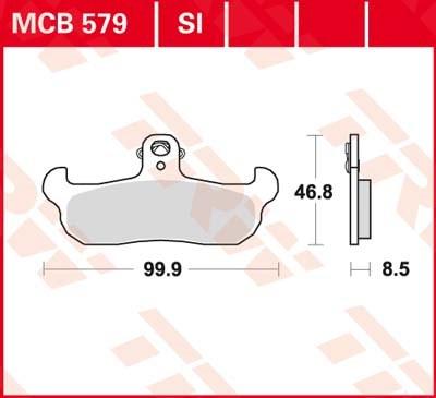TRW Standaard remblokken MCB579