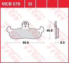 TRW Plaquettes de frein métal fritté SI MCB579SI
