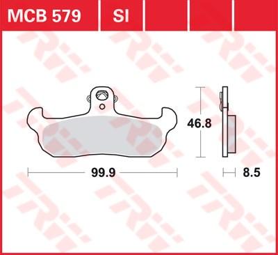 TRW SI Remblokken sinter metaal MCB579SI