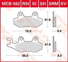 TRW Plaquettes de frein organique MCB582