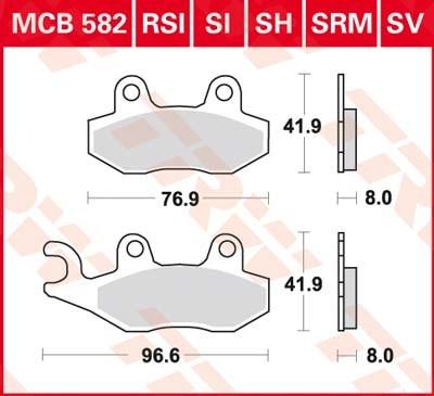 TRW Standaard remblokken MCB582