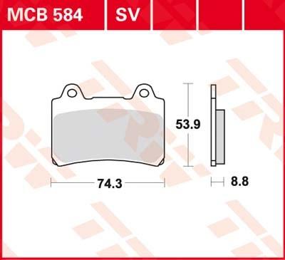 TRW Standaard remblokken MCB584