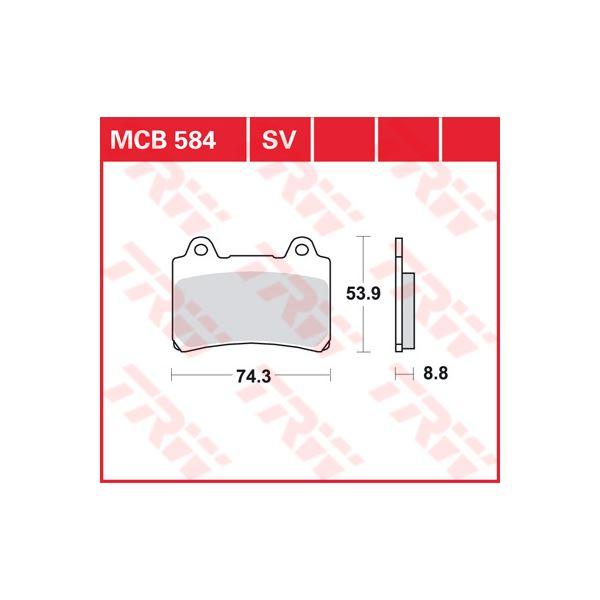 TRW SV/SH Remblokken MCB584SV