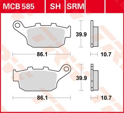 TRW SV/SH Remblokken MCB585SH