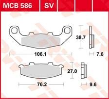TRW Plaquettes de frein organique MCB586