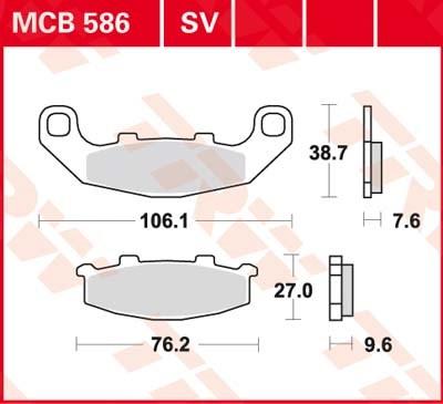 TRW Standaard remblokken MCB586