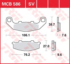 TRW Plaquettes de frein SV/SH MCB586SV