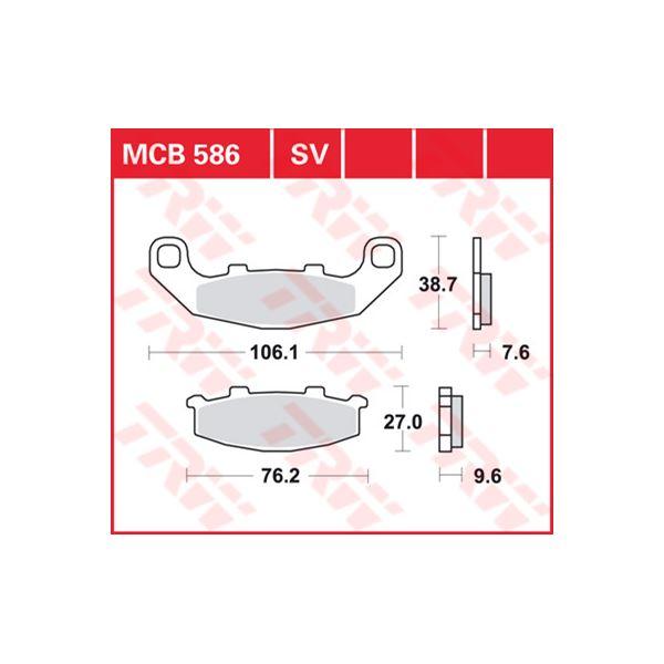 TRW SV/SH Remblokken MCB586SV