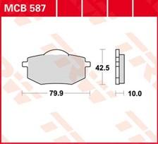 TRW Plaquettes de frein organique MCB587