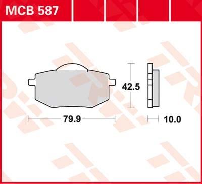TRW Standaard remblokken MCB587
