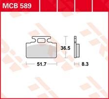 TRW Plaquettes de frein organique MCB589