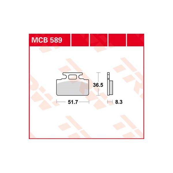 TRW Standaard remblokken MCB589