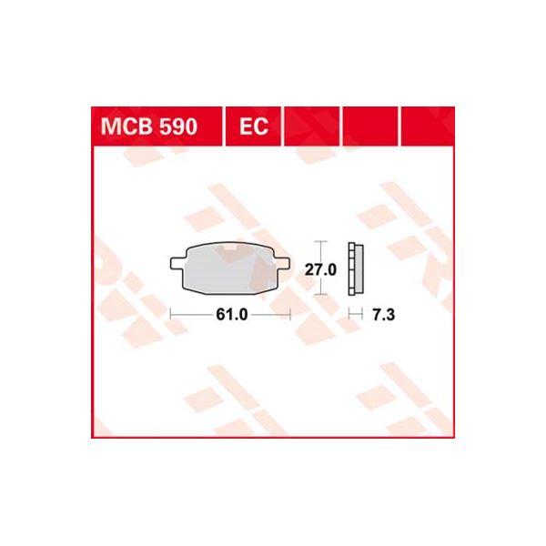 TRW Standaard remblokken MCB590