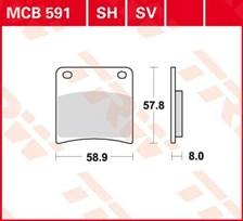 TRW Standaard remblokken MCB591
