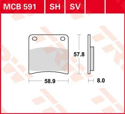 TRW SV/SH Remblokken MCB591SH