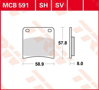 TRW SV/SH Remblokken MCB591SV