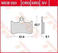 TRW Plaquettes de frein organique MCB593