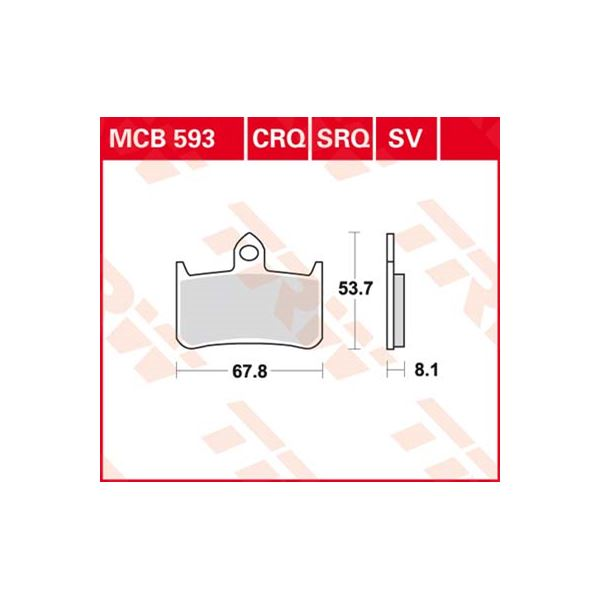 TRW Standaard remblokken MCB593