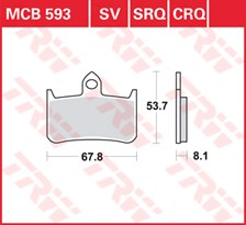 TRW Plaquettes de frein CRQ MCB593CRQ