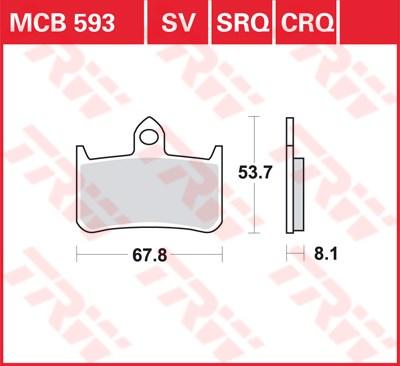 TRW CRQ remblokken MCB593CRQ