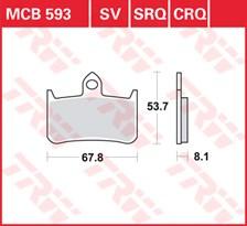 TRW Plaquettes de frein SRQ  MCB593SRQ