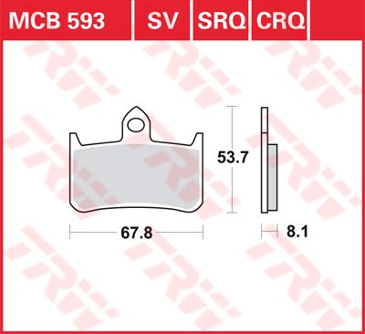 TRW SRQ remblokken MCB593SRQ