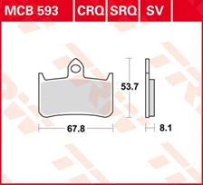 TRW Plaquettes de frein SV/SH MCB593SV