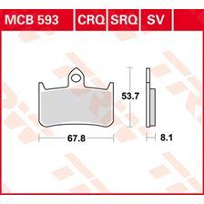 TRW SV/SH Remblokken MCB593SV
