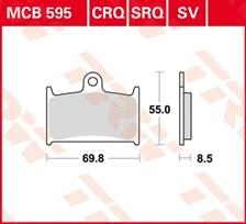 TRW Plaquettes de frein organique MCB595