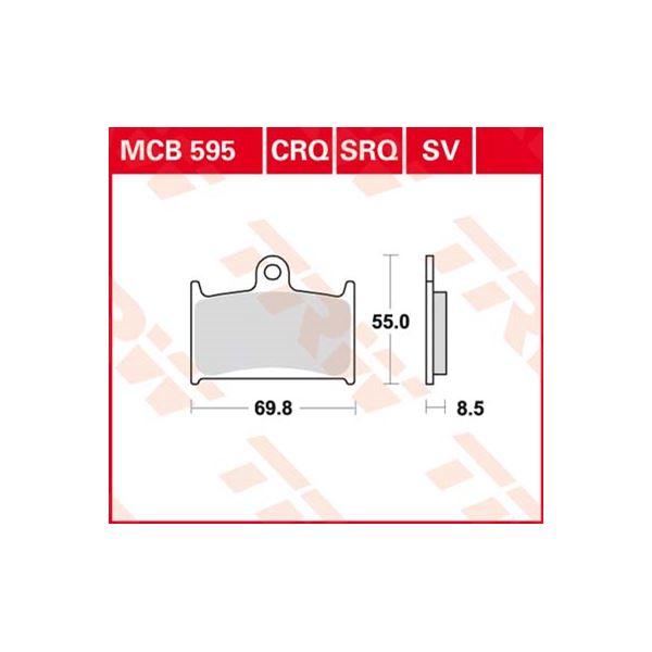 TRW Standaard remblokken MCB595