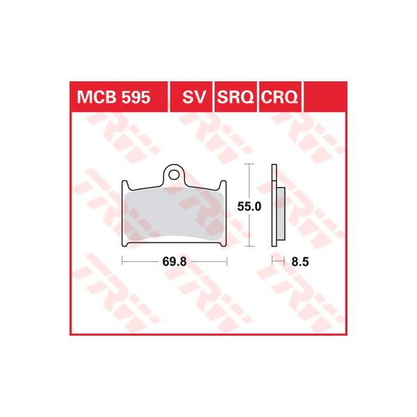 TRW CRQ remblokken MCB595CRQ