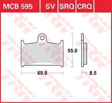 TRW Plaquettes de frein SRQ  MCB595SRQ